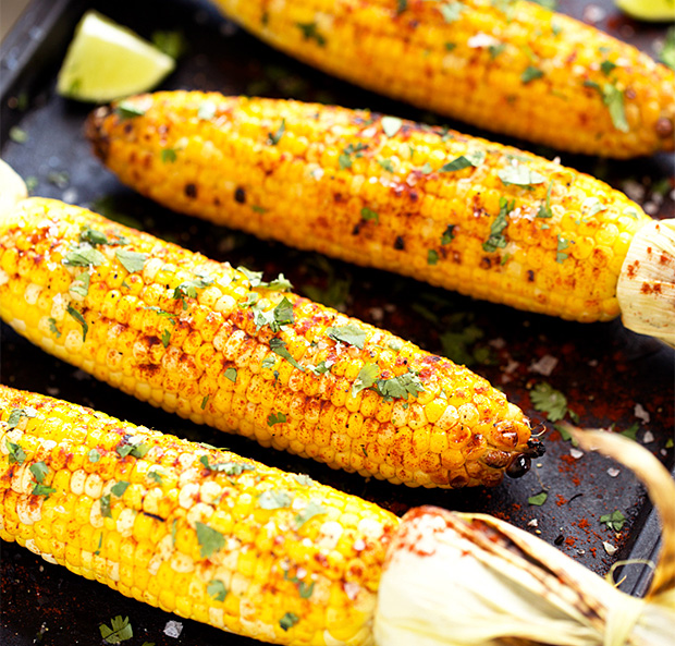 Grilled Cilantro, Lime & Paprika Corn on the Cob