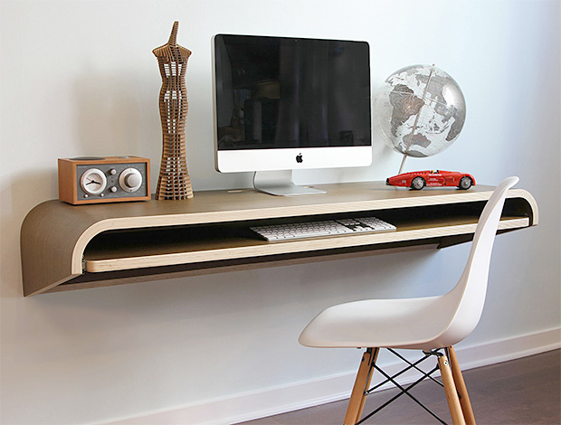 Minimal Wall Desk by Orange 22 at werd.com