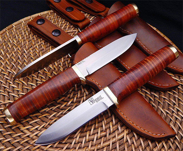 Leather Bushcrafter by Vehement Knives at werd.com