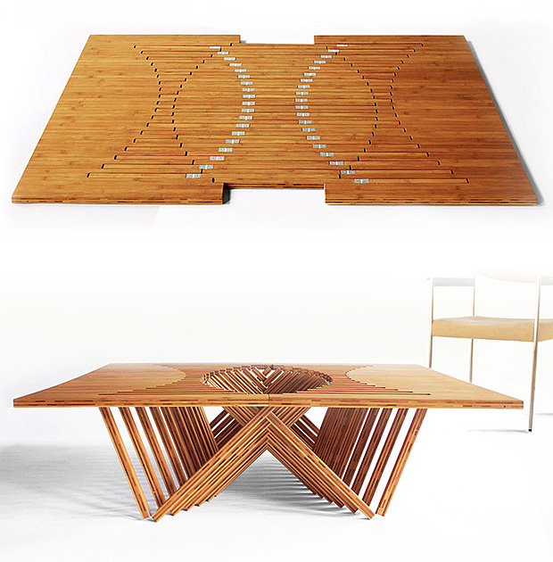 Rising Table by Robert van Embricqs at werd.com