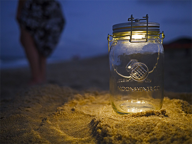 Moonshiner Co. Solar Mason Jar at werd.com
