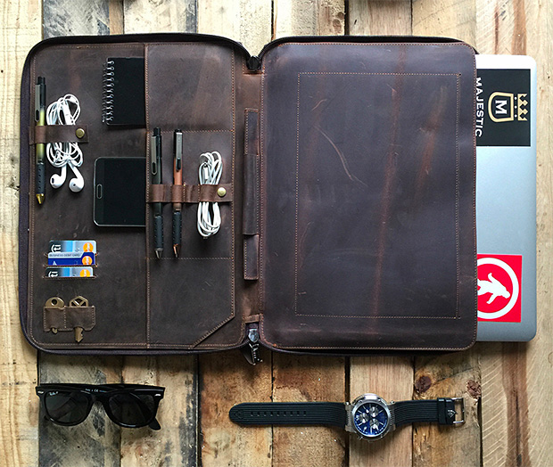 Savage Supply Company Leather Portfolio at werd.com