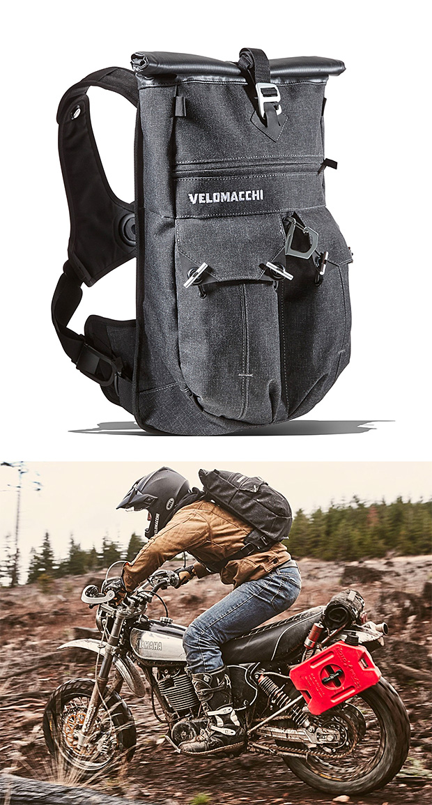 Velomacchi Speedway Roll-top Pack at werd.com