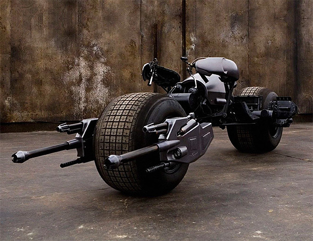 The Dark Knight's Batpod up for Auction at werd.com