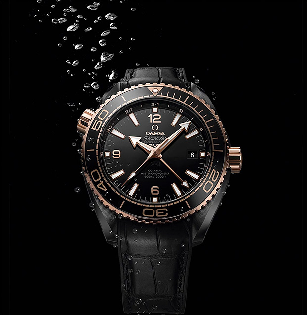 Omega Seamaster Planet Ocean Deep Black Collection at werd.com