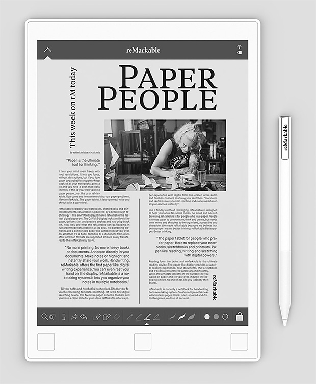 reMarkable Paper Tablet at werd.com