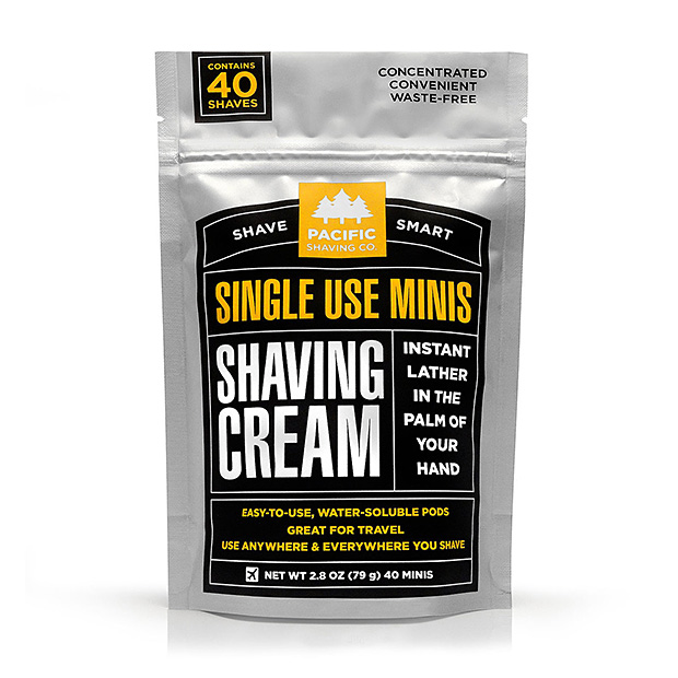 PSC Single-use Shaving Cream Minis at werd.com