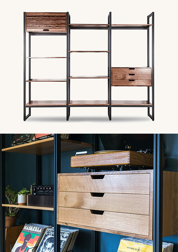 The Tekio Modular Shelving System From Tanner Goods Is Elegant, Adaptable, & American-Made at werd.com