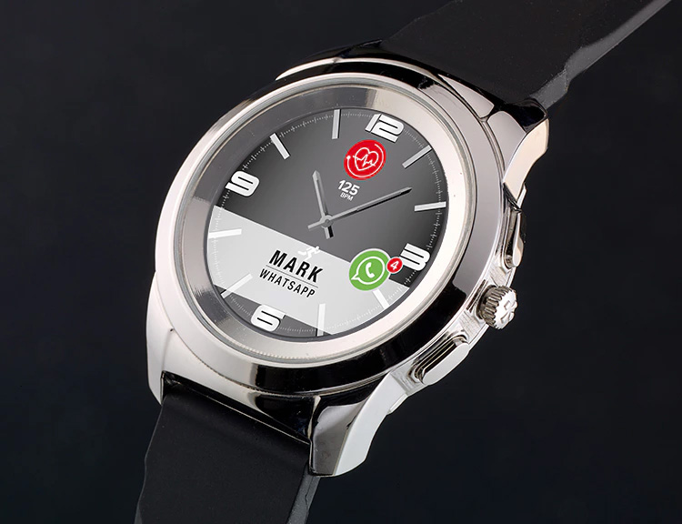 The ZeTime Smartwatch Blends Analog Style with Tech Function at werd.com