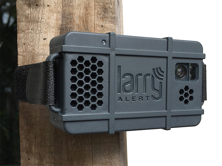 While You're Away, Larry Alert Keeps Your Gear Safe & Secure at werd.com