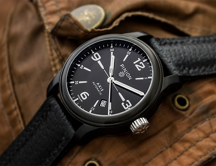 Pinion Introduces a Classic Automatic in the Axis II Black at werd.com