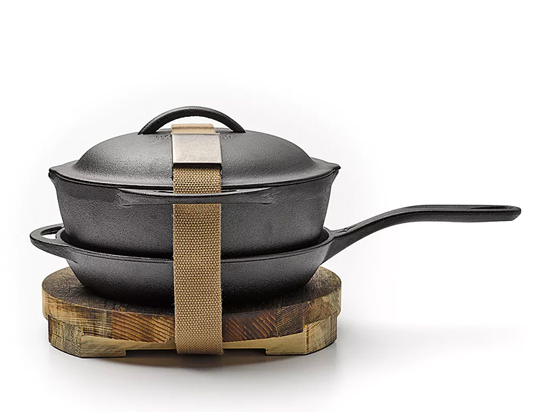 For Those About To Crock: a Cast Iron Cookset from Barebones at werd.com