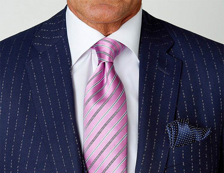 "Yes, You Too Can Own The Conor McGregor ""F*ck You"" Pinstripe Suit at werd.com"