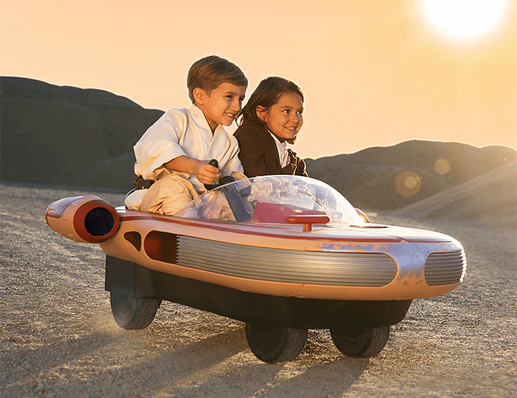 Radio Flyer Goes Retro-Futuristic with a Kids-Only Star Wars Landspeeder at werd.com