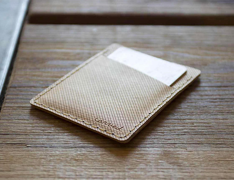 Arbor is a Slim, Flexible Wooden Wallet at werd.com