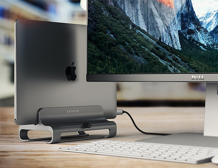This Sleek Aluminum Laptop Stand Frees Up Space On Your Desk at werd.com