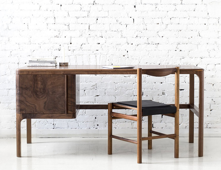 Poritz & Studio's Tambour Desk is a Modern Classic at werd.com