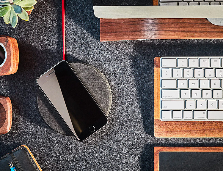 Grovemade's Wireless Charging Pad Will Look Dope On Your Desktop at werd.com