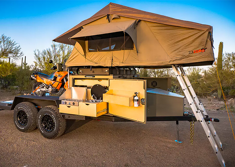 The Turtlebacker Flatbed Camper is an Adventure-Ready Toy Hauler at werd.com