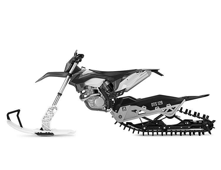 Convert Your 2-Wheeler Into a Snow-Mo Bike at werd.com