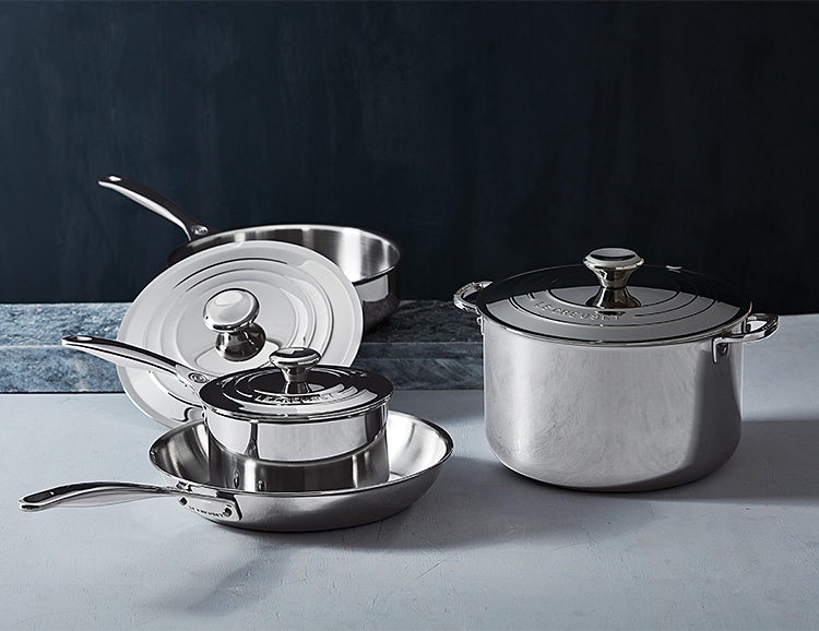 Le Creuset Introduces New 7-Piece Stainless Steel Collection at werd.com