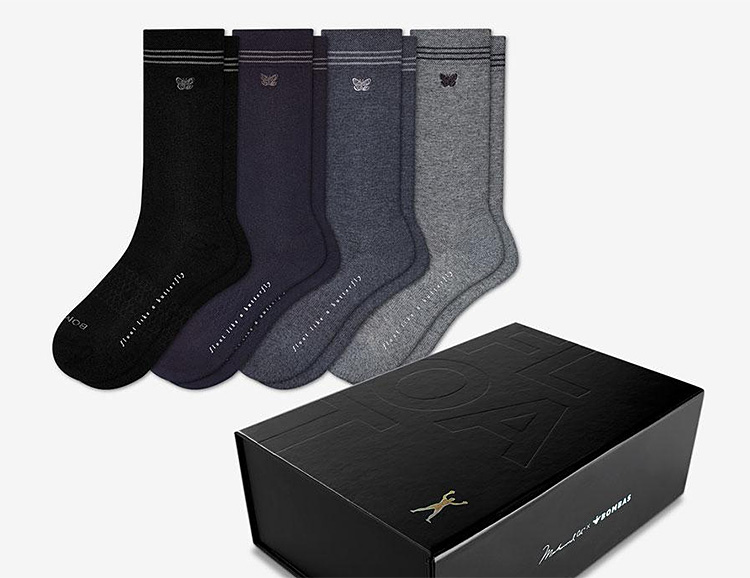 Muhammad Ali x Bombas Float & Sting Dress Socks at werd.com