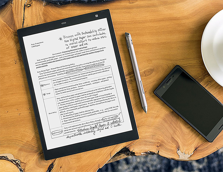 Sony Downsizes & Upgrades Its Digital Paper Reader in the DPT-CP1 at werd.com