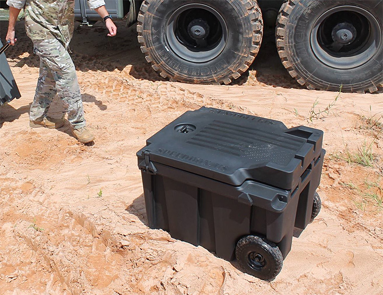 Speedbox is a Military-Grade, Stackable Cooler at werd.com