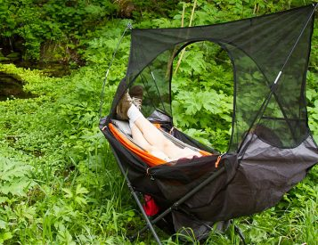 This Folding Hammock Sets Up Anywhere
