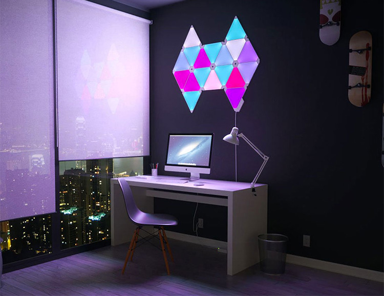 Nanoleaf Light Panels Turn Music Into Light at werd.com