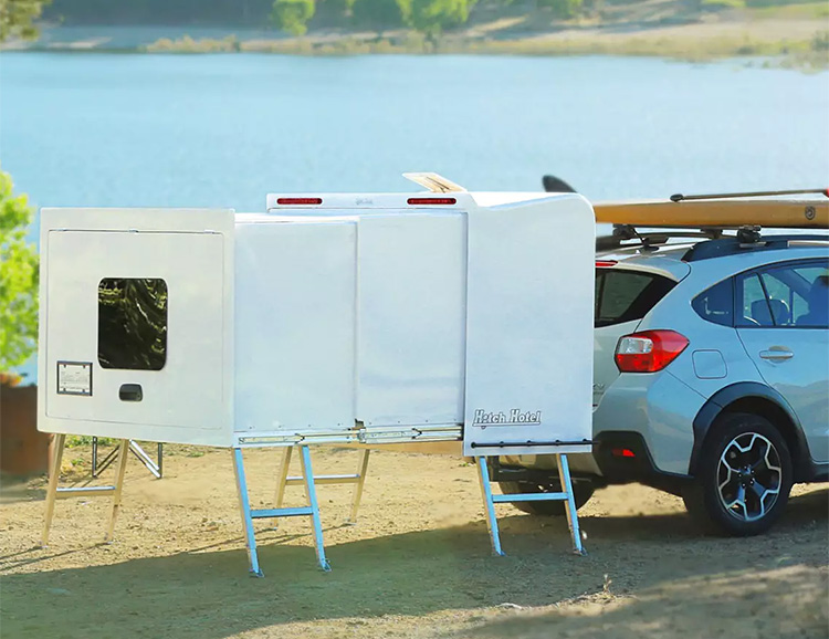 Hitch Hotel is a Compact Camper You Don't Have To Tow at werd.com