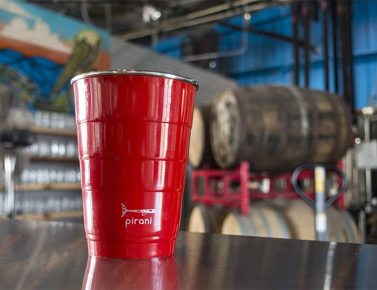 The Stainless Steel Pirani Party Tumbler is the Ultimate Keg Cup at werd.com