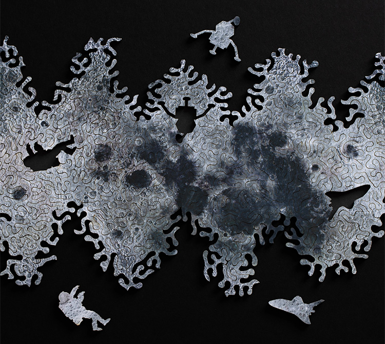 This Laser-Cut Moon Puzzle is as Limitless as Space Itself at werd.com