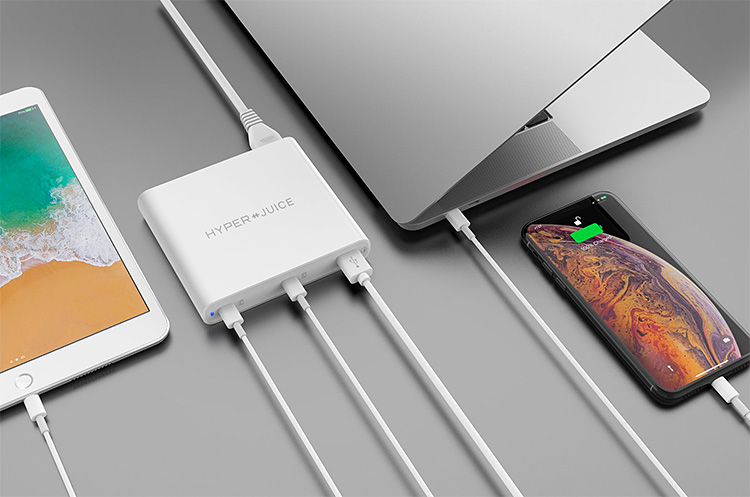 The HyperJuice Charger Delivers Multi-Device USB-C Power at werd.com