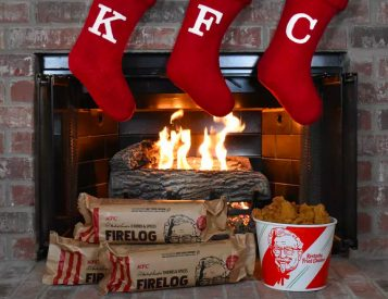 This KFC Firelog Might Make You Hungry