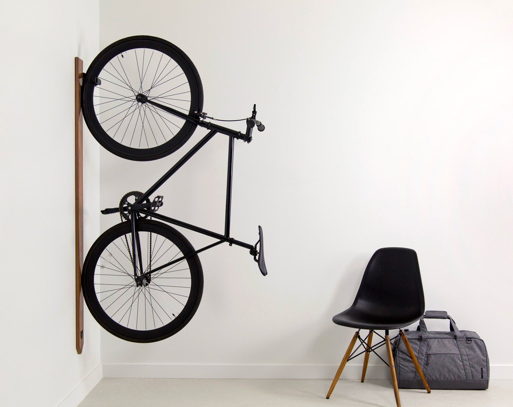 This Clean, Clever Rack Keeps Your Bike Up Out Of The Way at werd.com