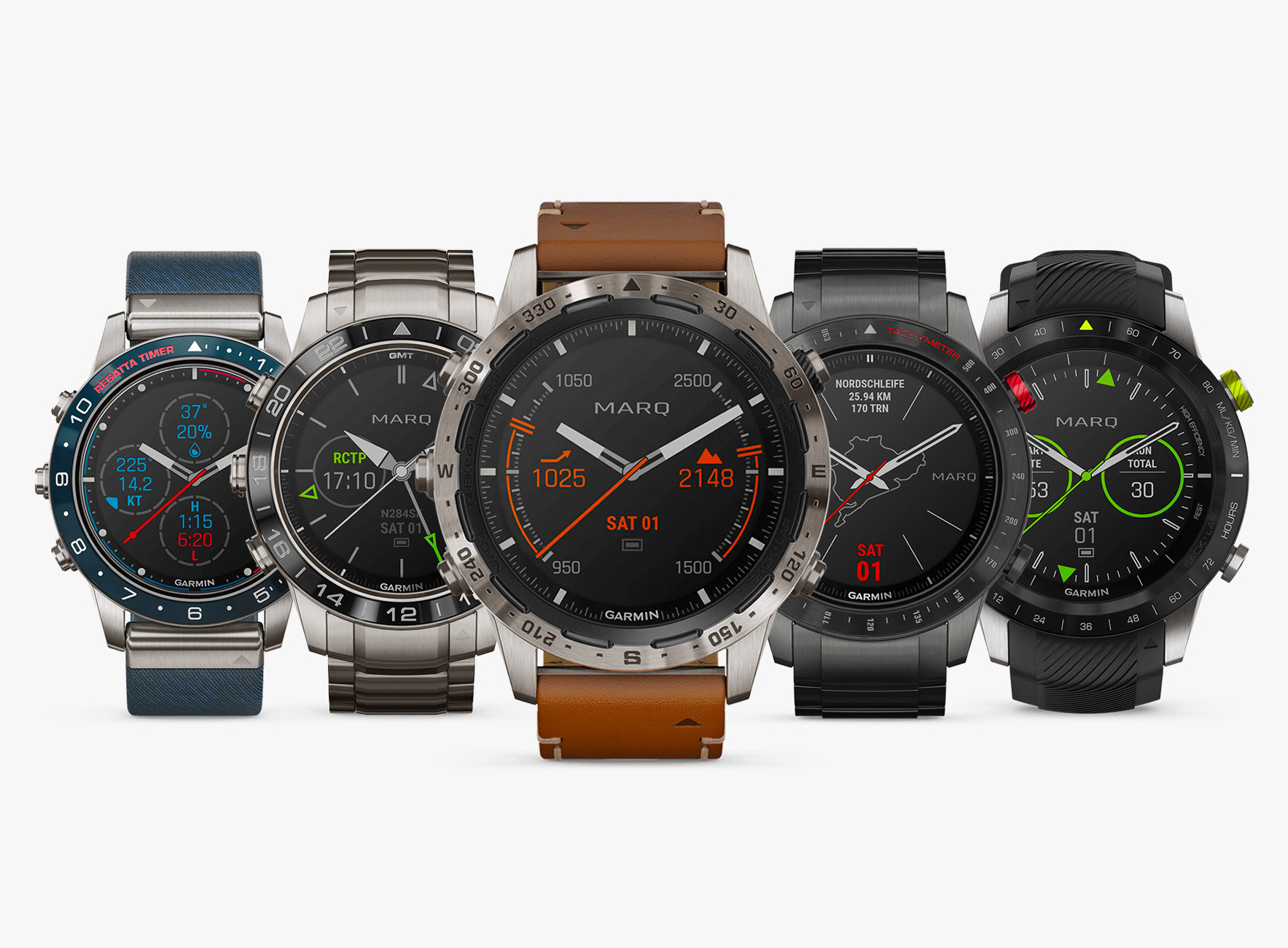 Garmin's MARQ Collection Watches Merge High-Tech Function & High-End Finish at werd.com
