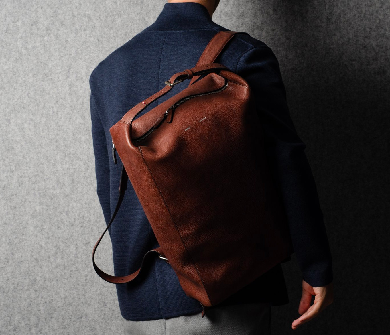 Hardgraft's Belted Backpack Looks Good in Leather at werd.com