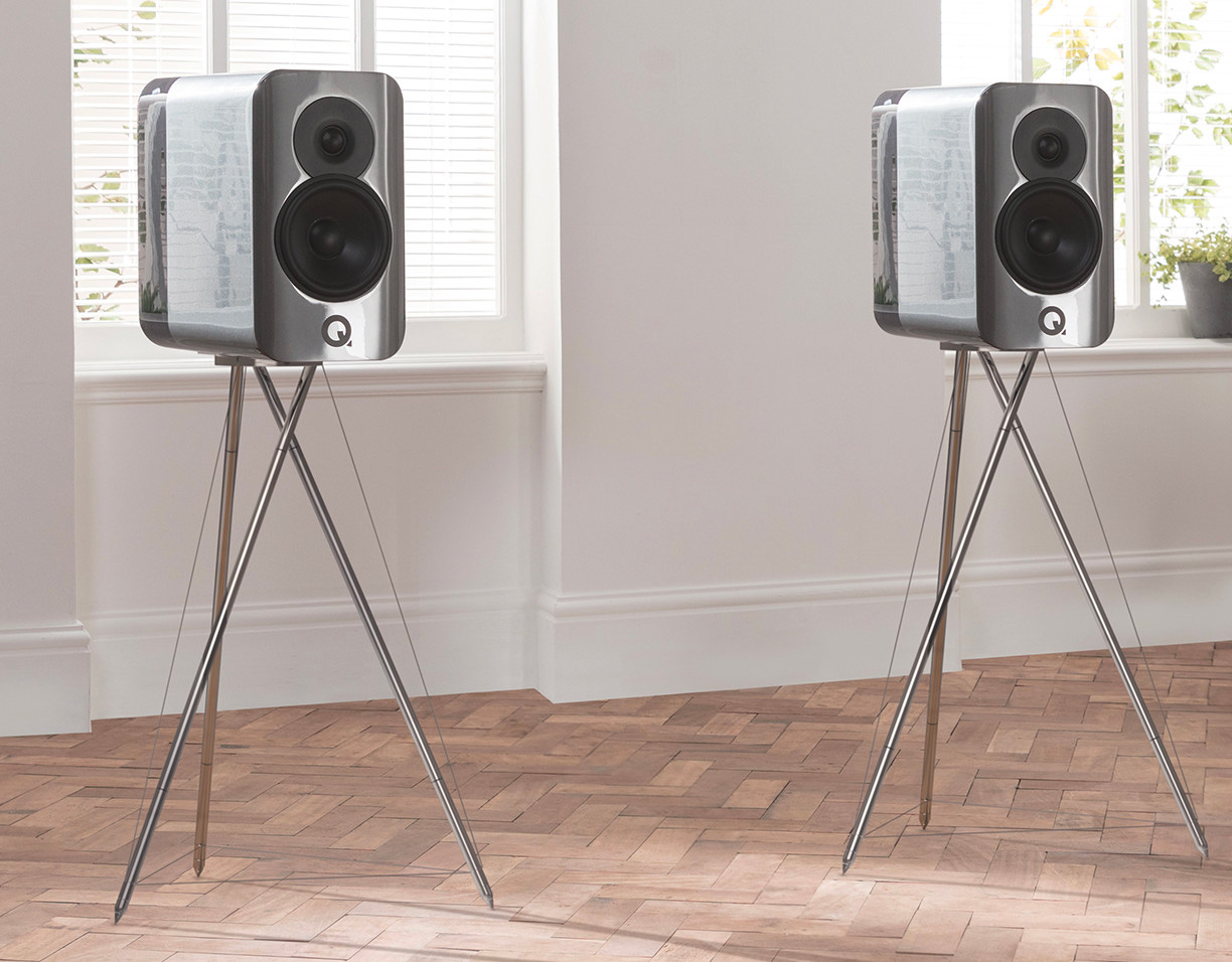 Q Acoustics Concept 300 Speakers Deliver Crystal Clear Sound at werd.com