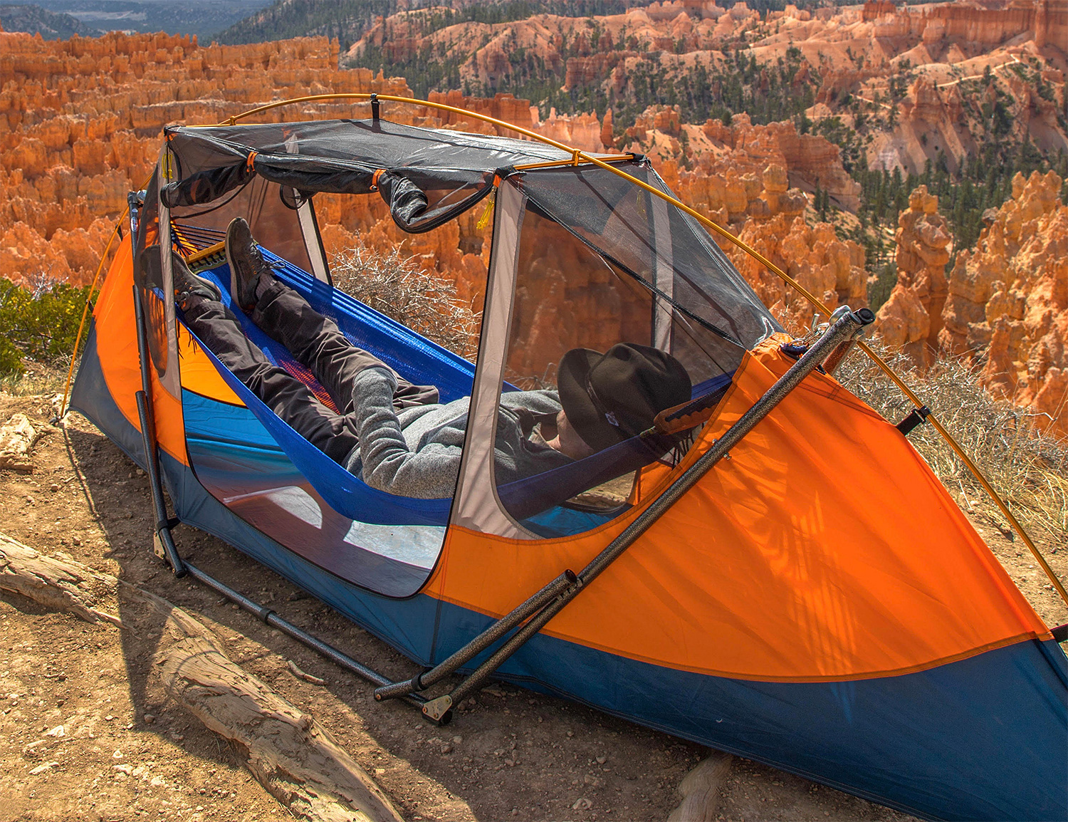 This Solo Shelter is Half Hammock, Half Tent at werd.com