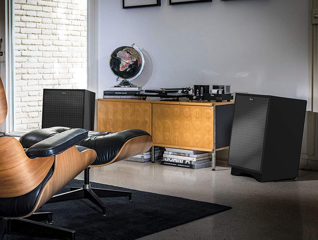 Classic: Klipsch Heresy III Speakers in Matte Black at werd.com