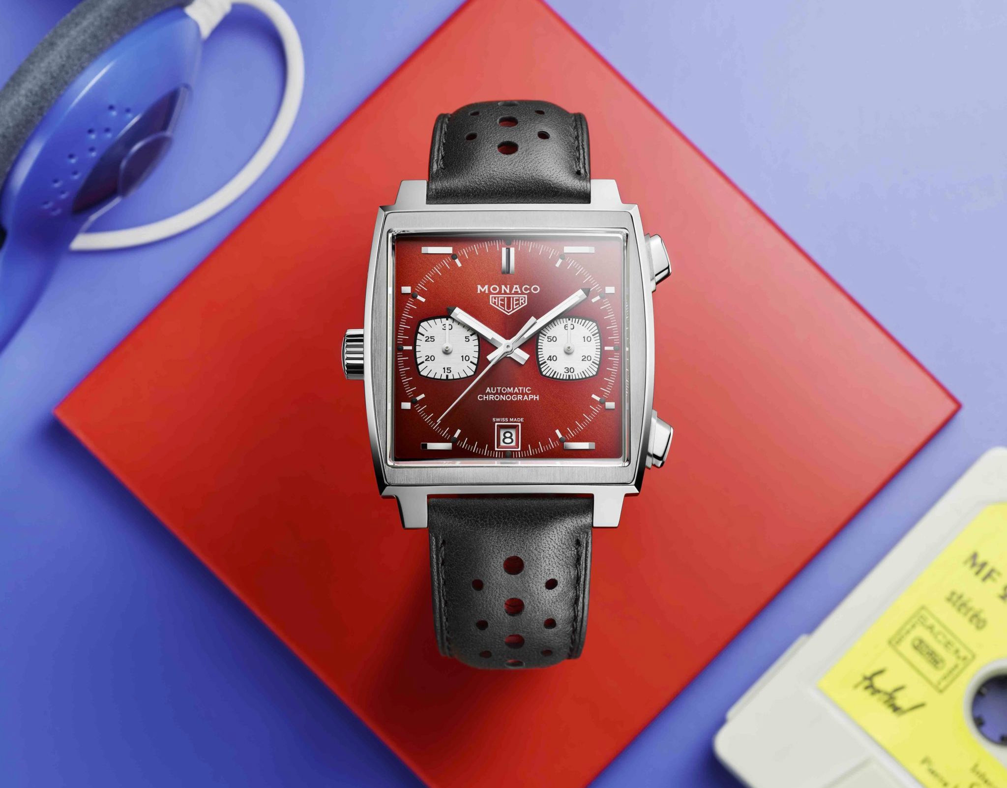 Tag Heuer Celebrates 50 Years Of The Iconic Monaco with an 80s Inspired Design at werd.com
