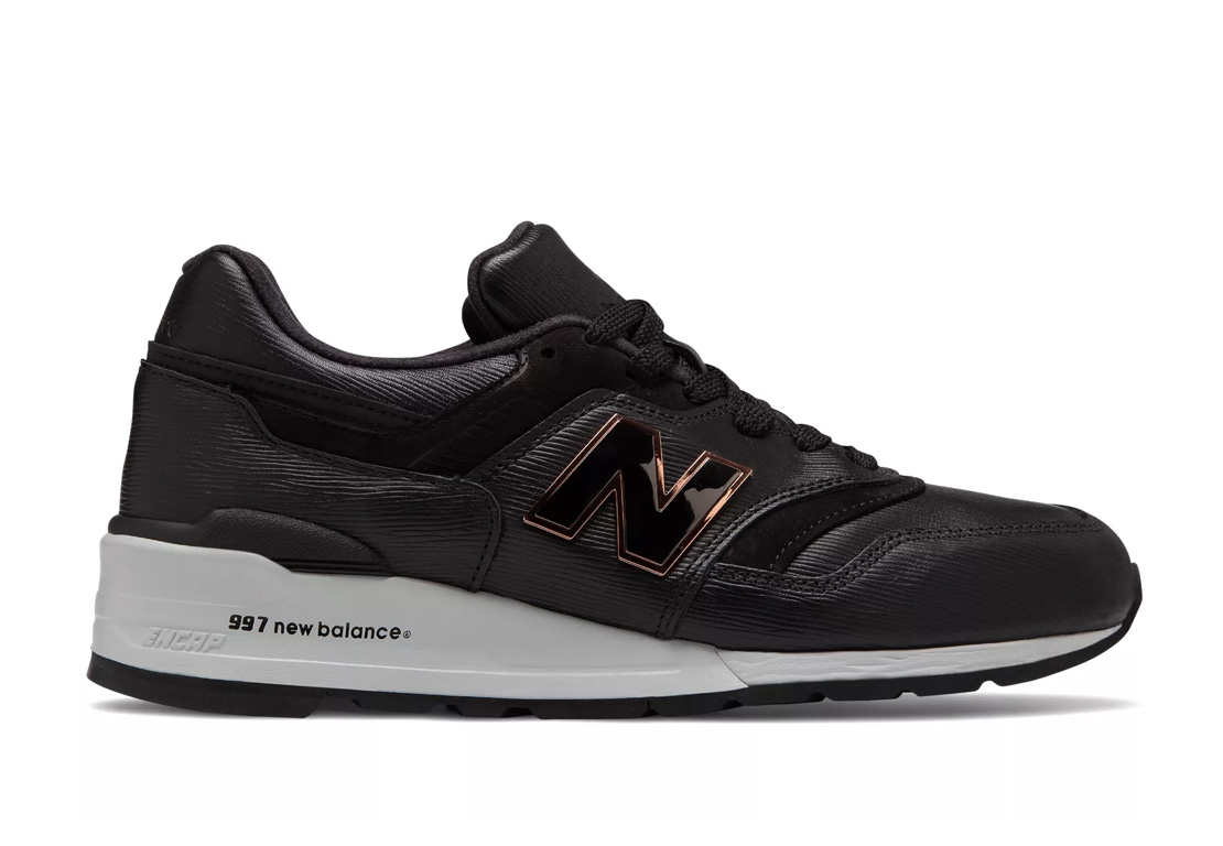 New Balance Drops Black Leather Luxe 997 at werd.com