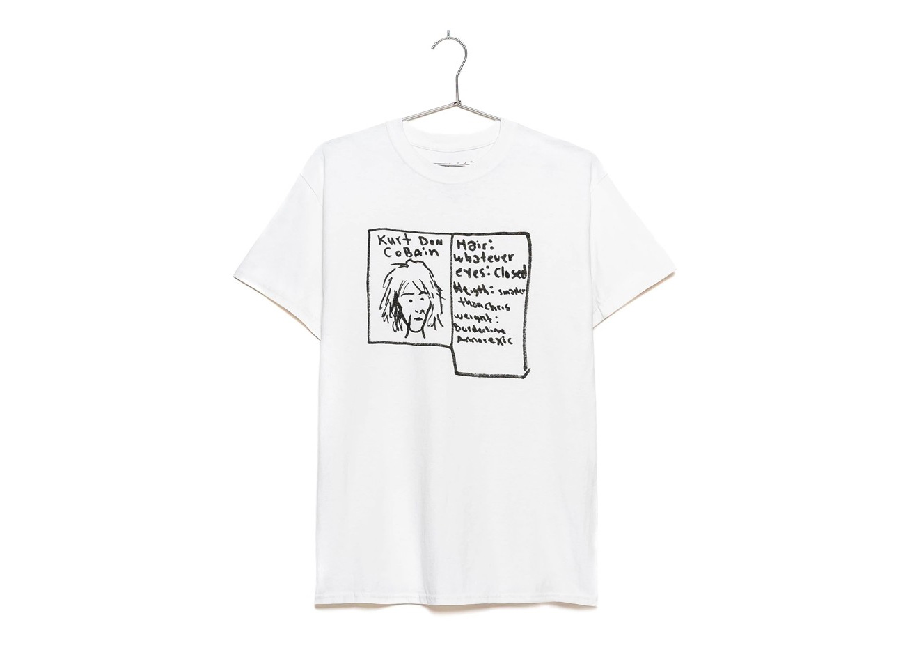 Original Kurt Cobain Art You Can Wear at werd.com