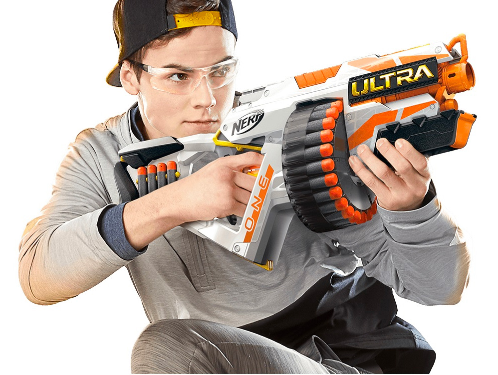 Safety Glasses Required: NERF Ultra One Motorized Blaster at werd.com