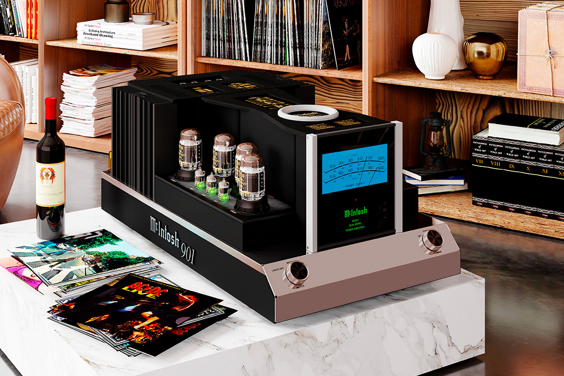 The McIntosh MC901 Dual Mono Amplifier Makes Big Sound & a Bold Statement at werd.com