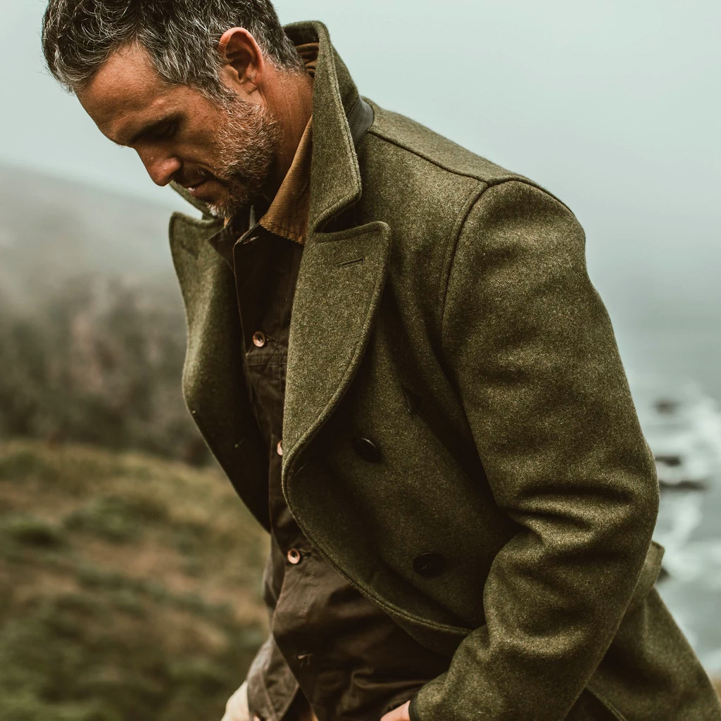 This Limited Edition Peacoat Delivers Heavy-Duty Warmth at werd.com