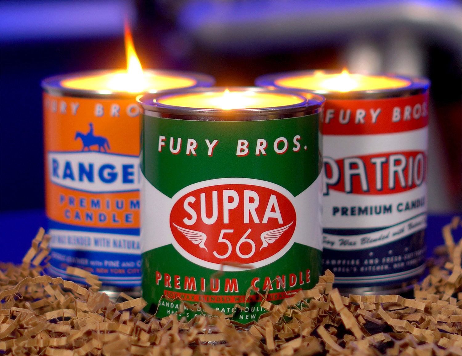 Fury Bros. Natural Scented Candles Smell Like Grandpa's Garage at werd.com